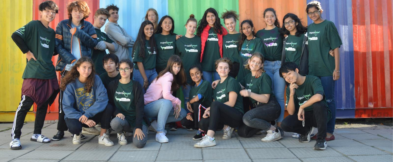 Teens relax at their South African placement on a volunteering opportunity for 15, 16, 17 and 18 year olds